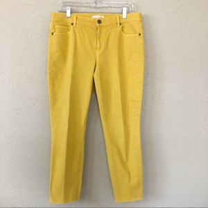 Loft Yellow-Gold Skinny Crop Jeans Size 30/10